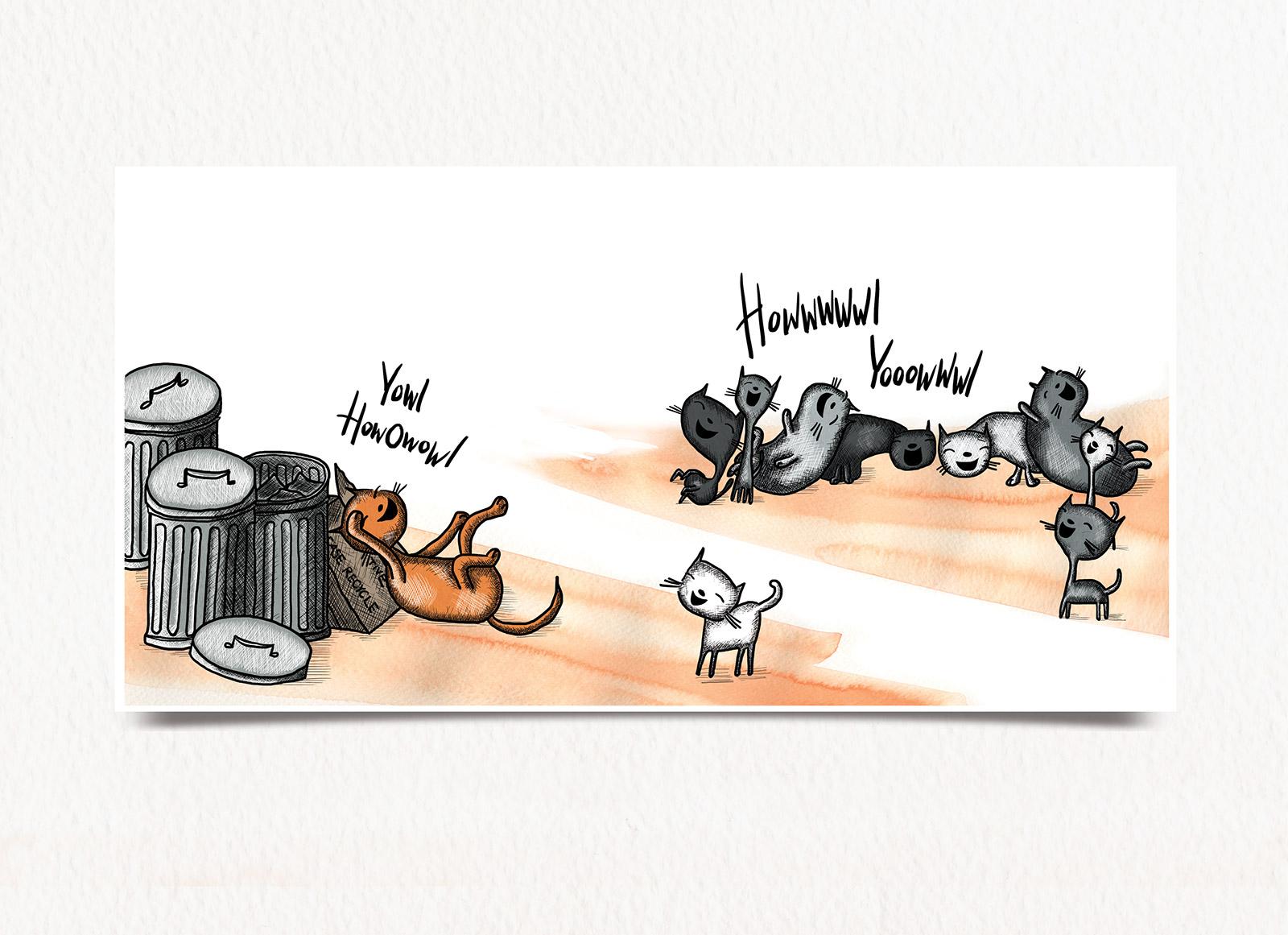 Cats trash